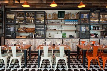 Un restaurant au look industriel