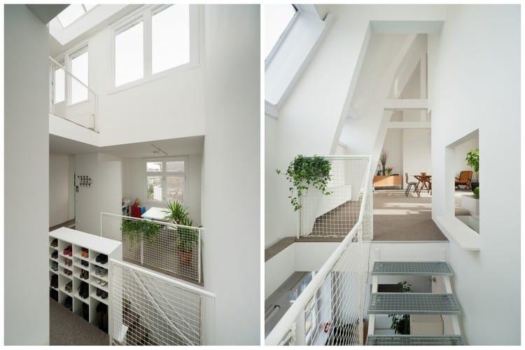 un interieur blanc
