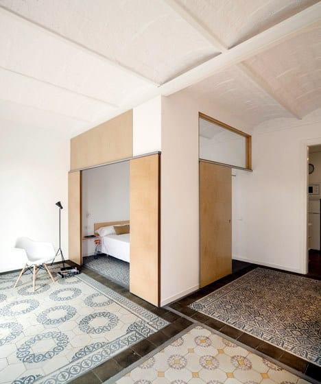 Un appartement rénové à Barcelone (3)