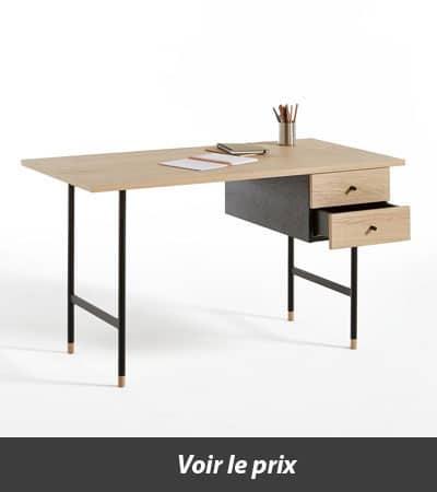 bureau en bois et métal