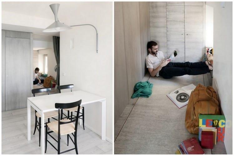 am nagement d 39 un petit appartement. Black Bedroom Furniture Sets. Home Design Ideas