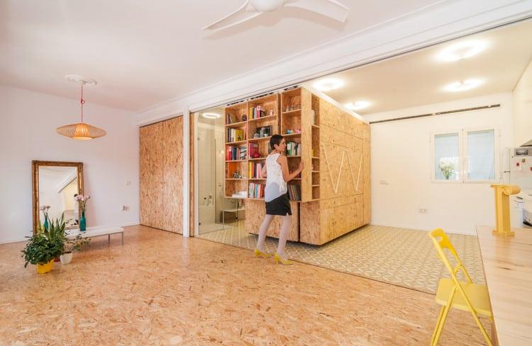 Un int rieur modulable avec des panneaux d 39 osb - Tabiques moviles vivienda ...