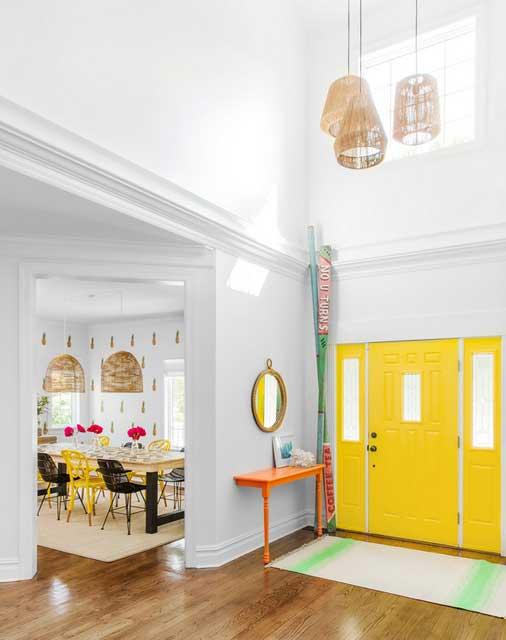 papier peint ananas et pastèque déco intérieure (1)