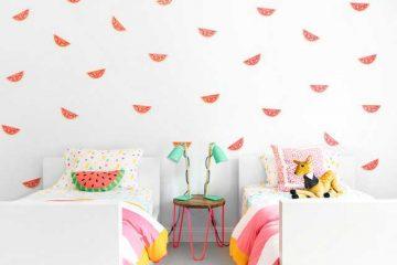 papier peint ananas et pastèque déco intérieure (11)