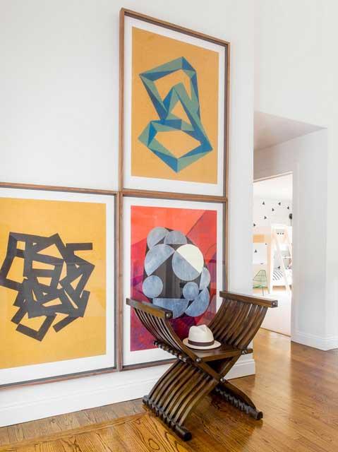 papier peint ananas et pastèque déco intérieure (9)