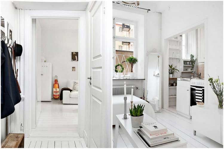 Appartement scandinave tout blanc