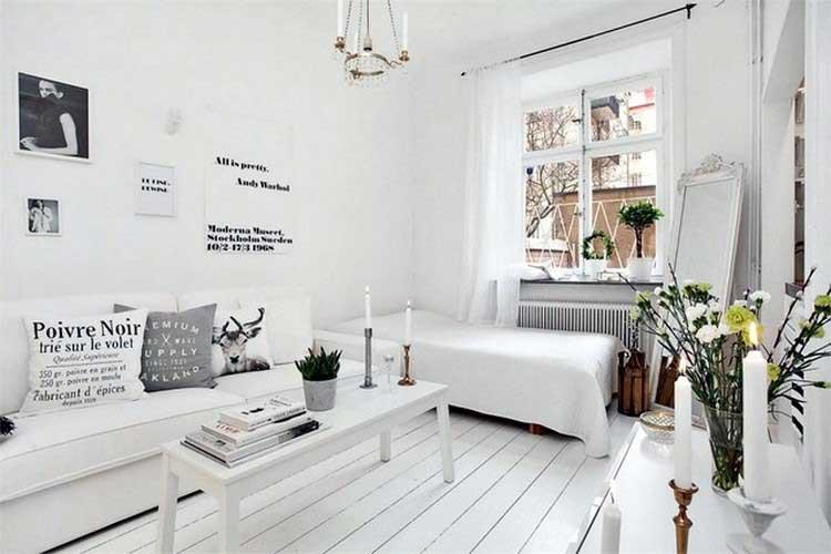 appartement scandinave blanc