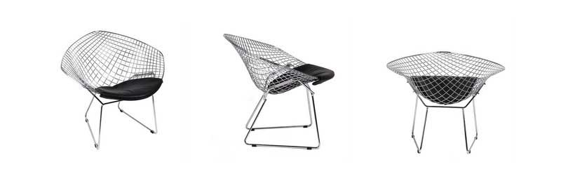 Chaise Agata de Harry Bertoia dans Superestudio.fr