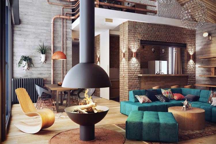 Loft au style industriel et cosy - Style loft industriel ...