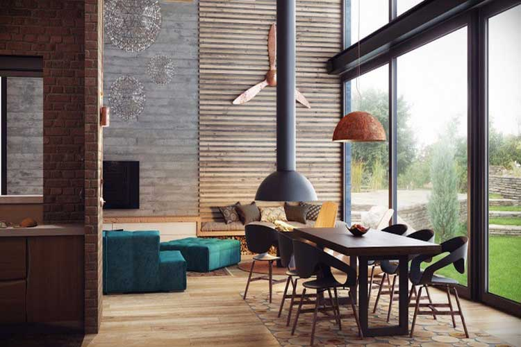 Loft au style industriel et cosy for Interieur industriel