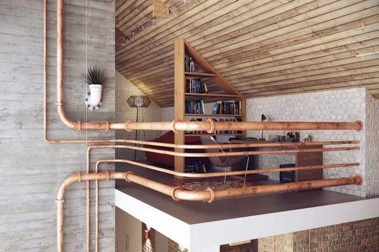 Loft au style industriel et cosy - Eclairage loft industriel ...