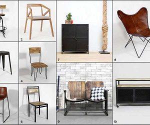 10 meubles au look masculin
