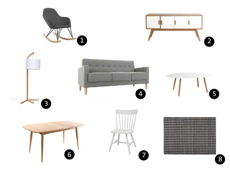 Decorer sejour meubles scandinaves