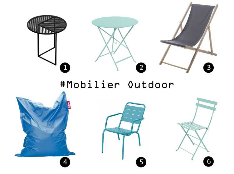 selection meubles outdoor pour balcon