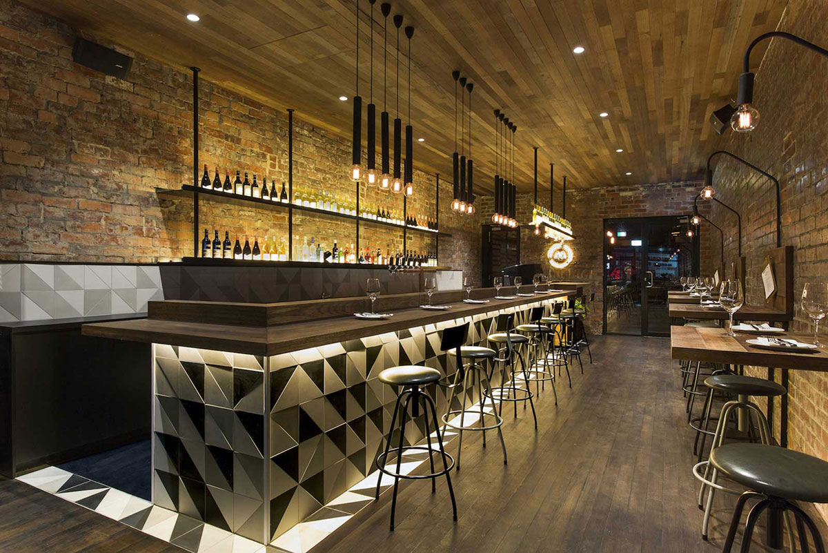 Id es d co pour un bar au look industriel - Deco bar design ...