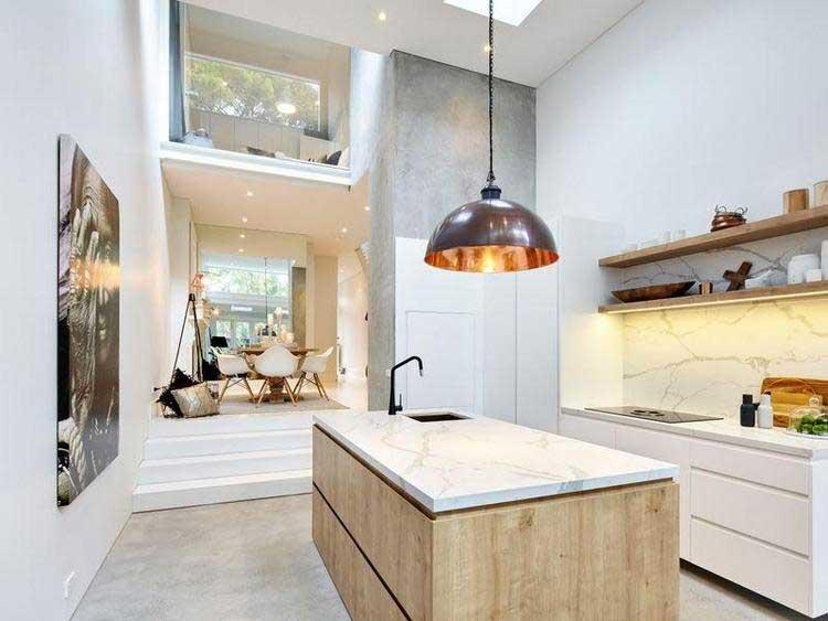 La d co d 39 une maison scandinave for Plan de travail en marbre cuisine