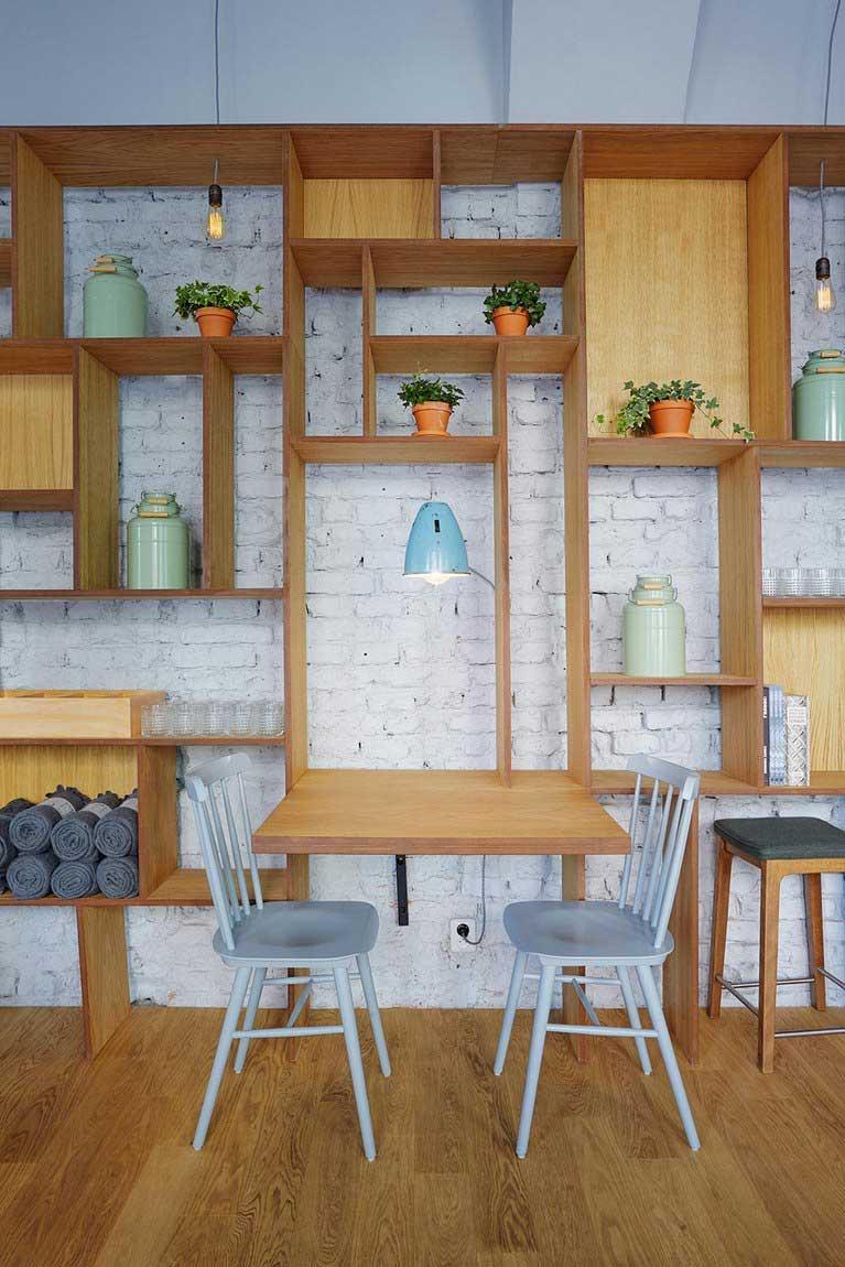 comment associer bois et brique dans la d co int rieure. Black Bedroom Furniture Sets. Home Design Ideas