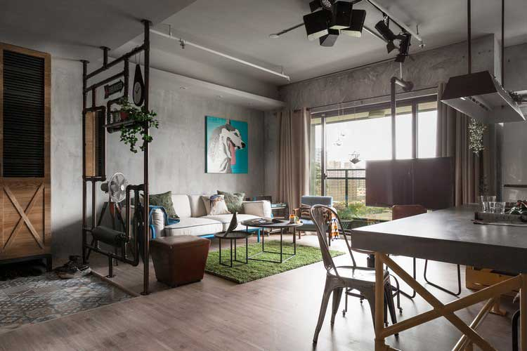 Appartement au style industriel et vintage - Deco loft industriele ...