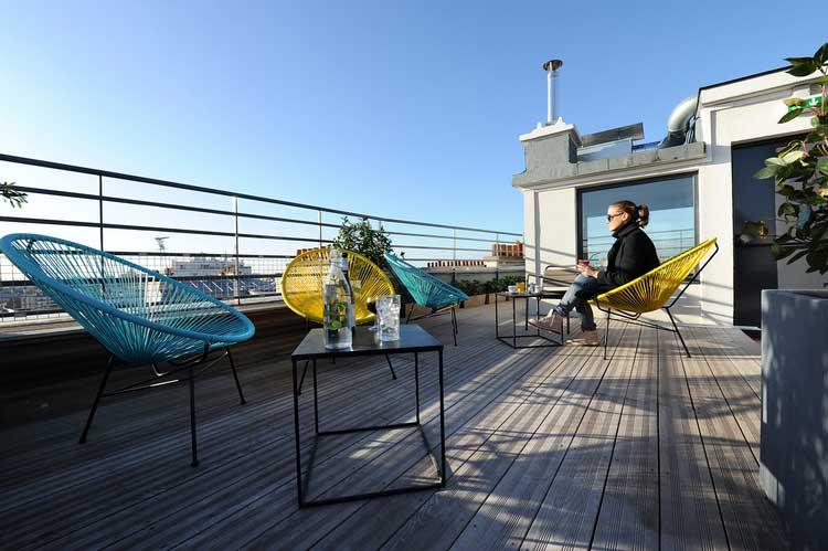 toit terrasse auberge de jeunesse Les piaules Paris