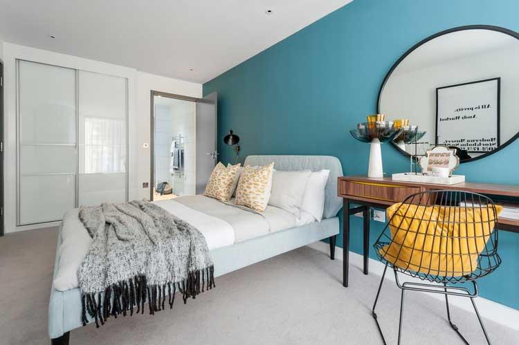 du bleu gris dans ma d co int rieure. Black Bedroom Furniture Sets. Home Design Ideas