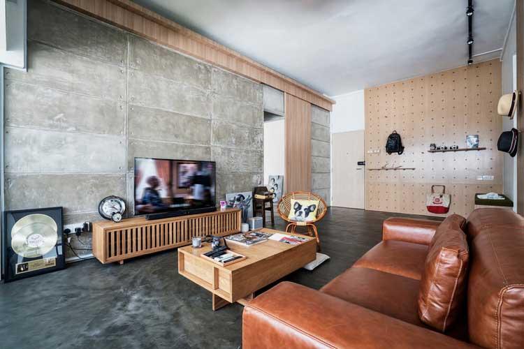 sejour beton et bois