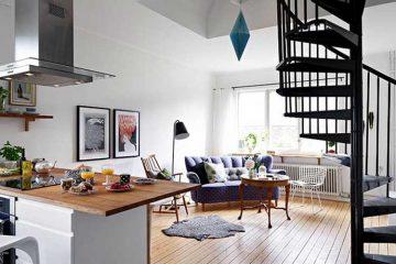 Un escalier colimacon au coeur d un duplex scandinave (5)