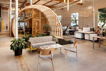 Déco bois d'une agence d'architectes (4)