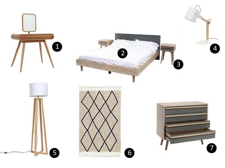 Deco chambre meubles scandinaves