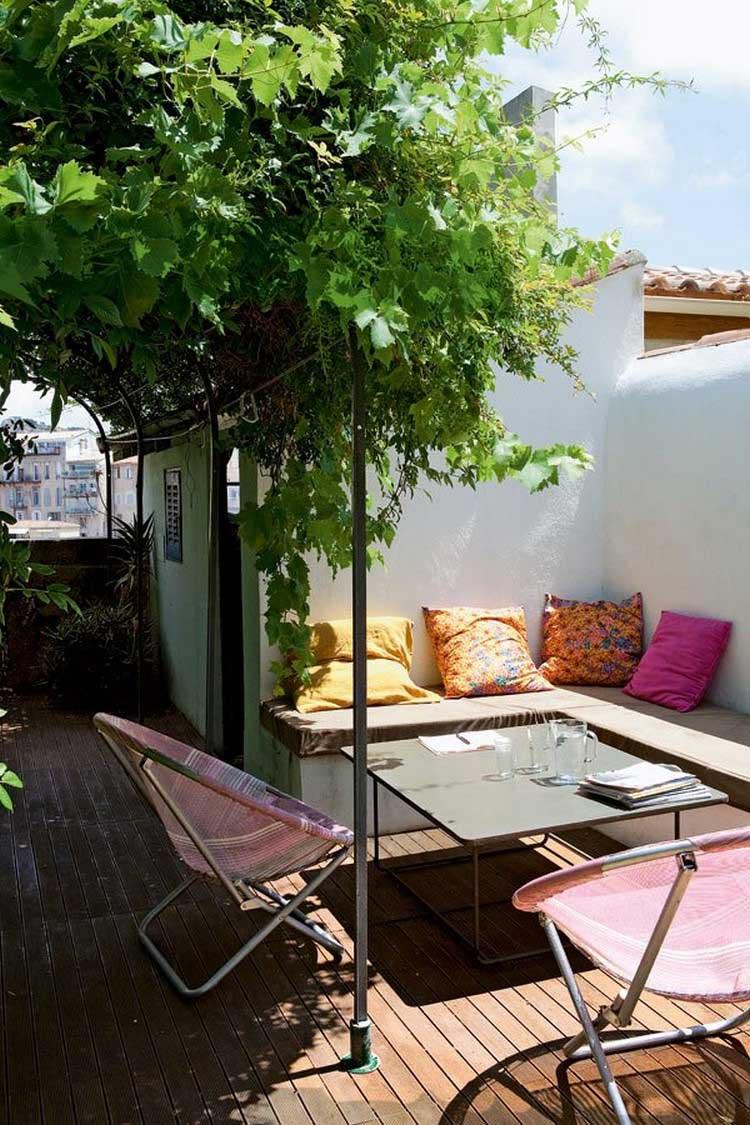 terrasse exterieure sur le toit