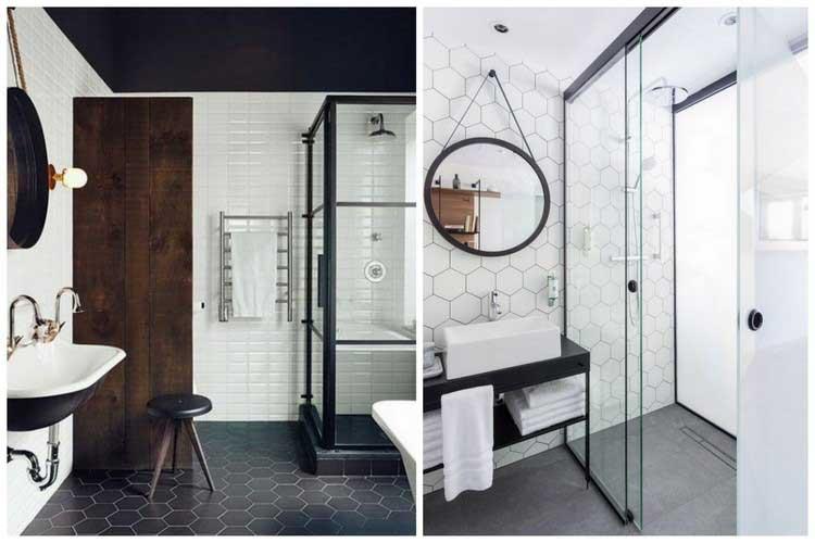 Salle de bain baroque noir et blanc for Salle de bain noir et blanc