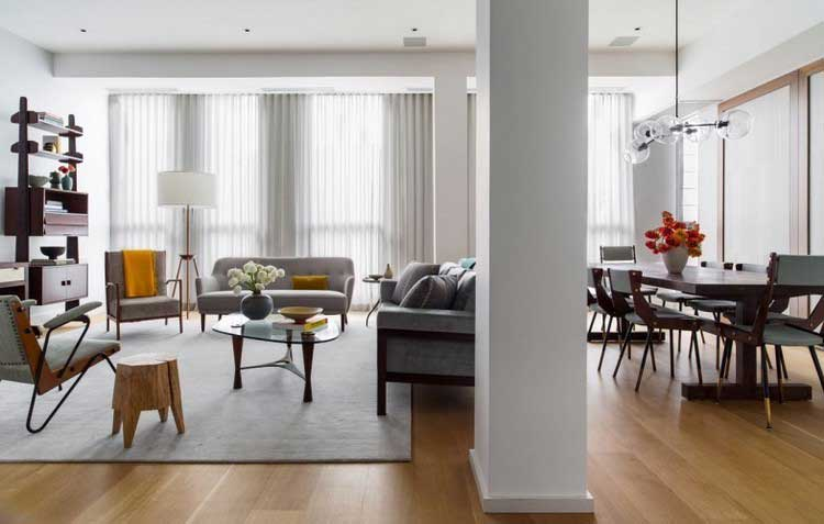 Un appartement la d co bois - Charmant appartement lumineux touches couleurs ...