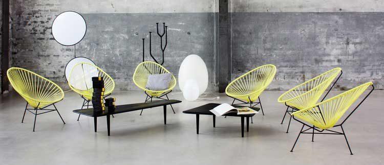 chaise mexicaine acapulco jaune