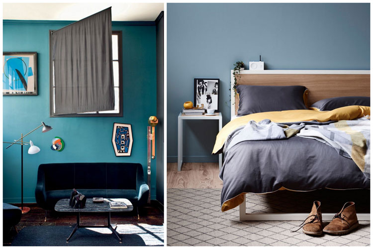 osez une d co couleur bleu canard dans votre int rieur. Black Bedroom Furniture Sets. Home Design Ideas