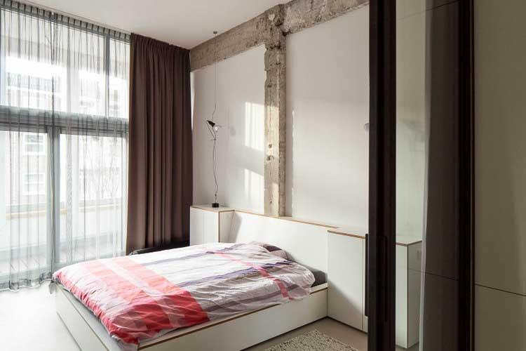 chambre beton brut