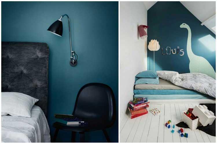 bleu canard chambre