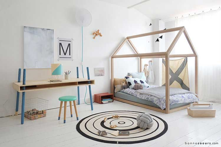 un lit cabane pour les enfants qui ont la chance d 39 avoir. Black Bedroom Furniture Sets. Home Design Ideas