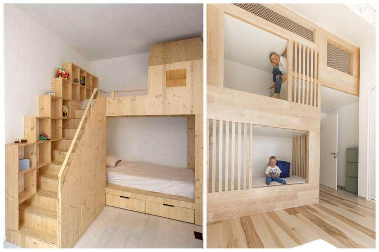 un lit cabane pour les enfants qui ont la chance d 39 avoir des parents cool. Black Bedroom Furniture Sets. Home Design Ideas