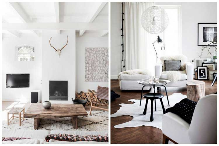 comment cr er une d co scandinave dans votre salon. Black Bedroom Furniture Sets. Home Design Ideas