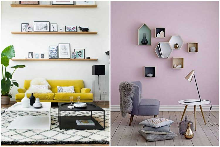 Comment cr er une d co scandinave dans votre salon for Deco etagere murale salon