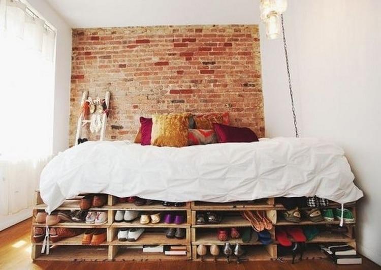 meuble sous lit en palette