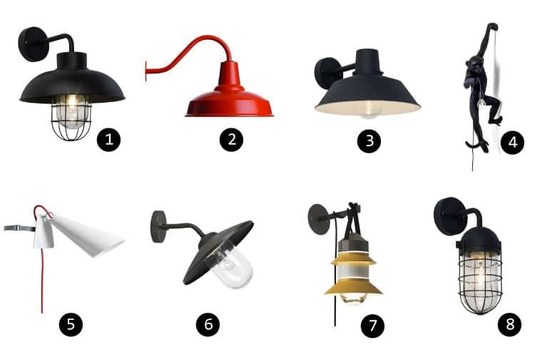 11 luminaires design pour l 39 clairage de votre terrasse ou for Installer une applique murale