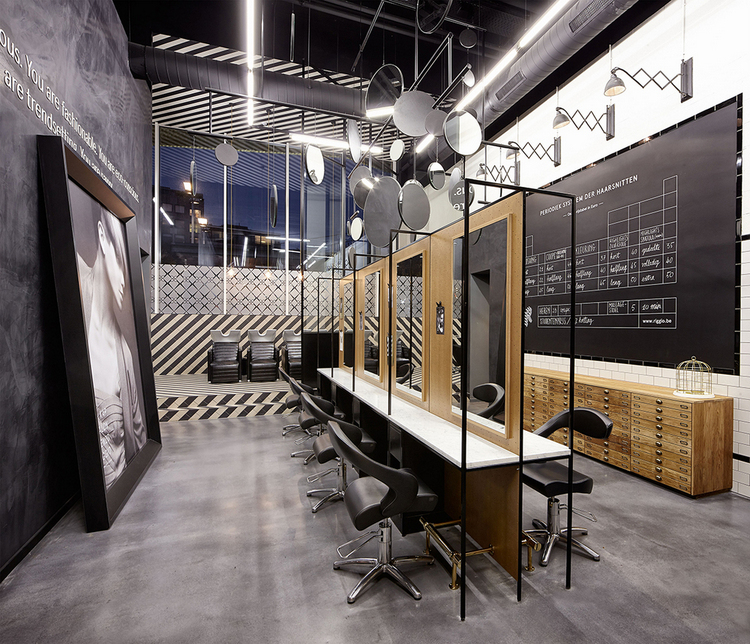 7 id es de d coration pour un salon de coiffure for Idee deco salon design