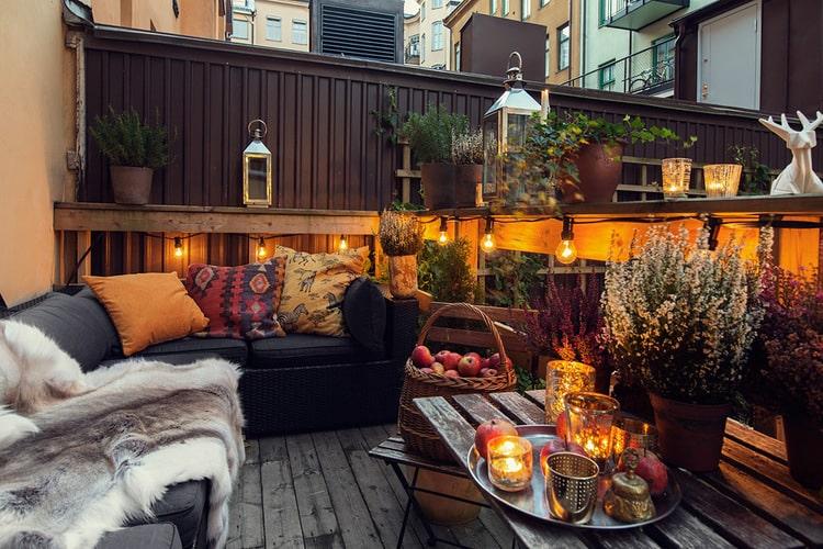lumiere exterieur pour terrasse