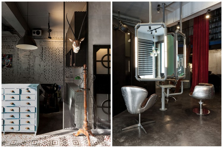 decoration salon de coiffure design