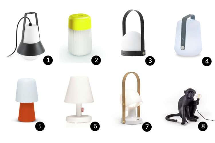 11 luminaires design pour l 39 clairage de votre terrasse ou for Lampe exterieur a poser