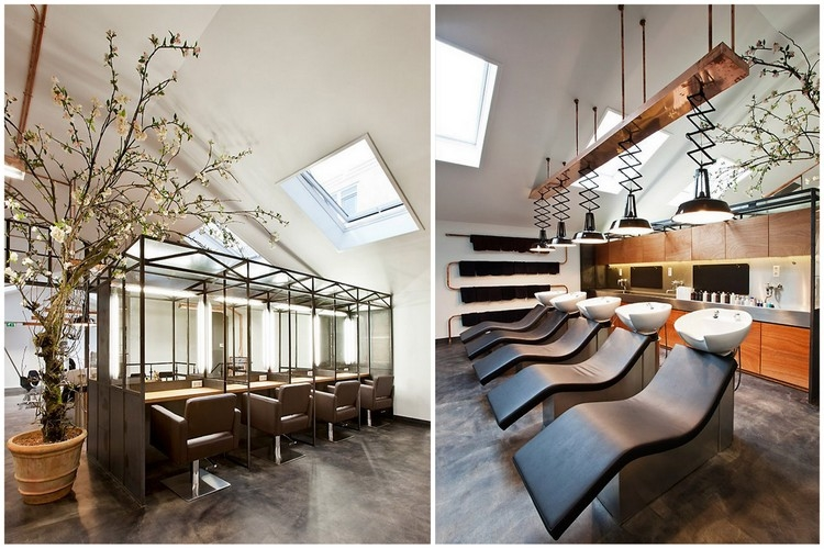 interieur salon de coiffure