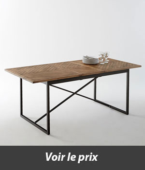 quelle table style industriel avec rallonges choisir. Black Bedroom Furniture Sets. Home Design Ideas