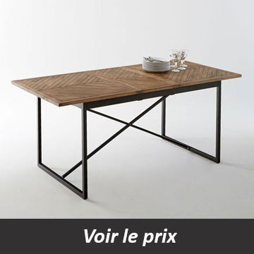 table salle a manger industrielle a rallonge