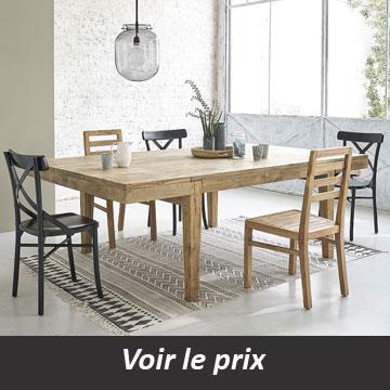 Table de salle à manger en teck