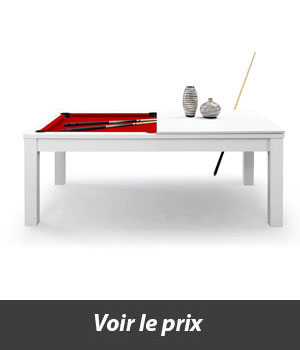 Table transformable en billard